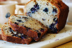 gastrogirl:  banana bread with blueberries.