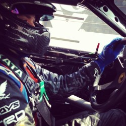 jdmzipties:  @kengushi 's game face just before the ride along in the @greddyracing #frs got underway. What an amazing experience to sit shotgun going sideways around #irwindale . #greddy #scionracing #frs86 #takata @moto_club4ag #jdmzipties  (at Toyota Speedway at Irwindale)