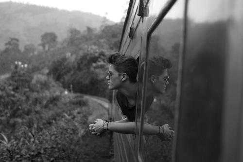 finnharries:  Took this picture of Jackamo on a train in Sri Lanka