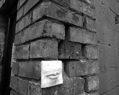 Displaced face. Dublin, June 2010.