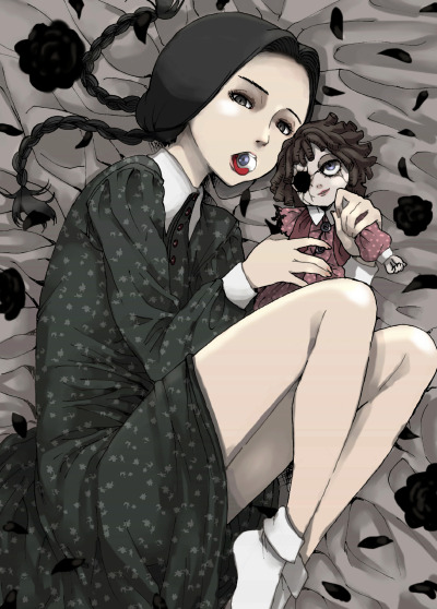 sokak:  wednesday addams (addams family) drawn by yanagida fumita - Danbooru