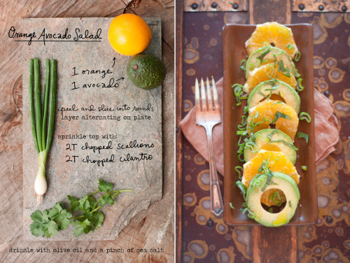 veganfoody:  Orange Avocado Salad