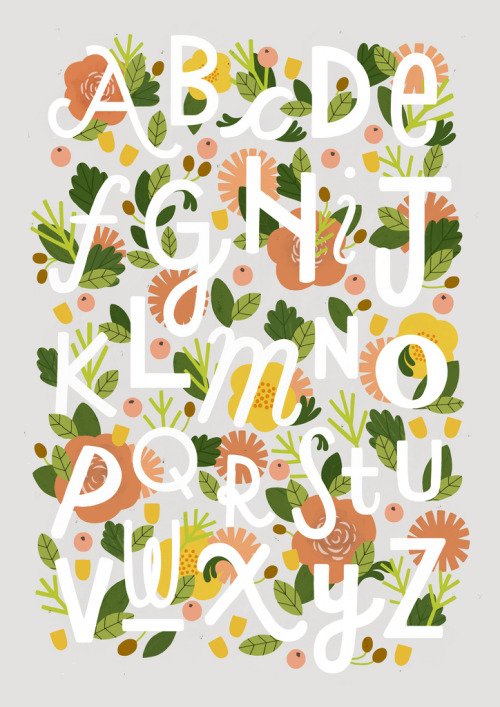 artpixie:  Floral Alphabet (by watersounds)