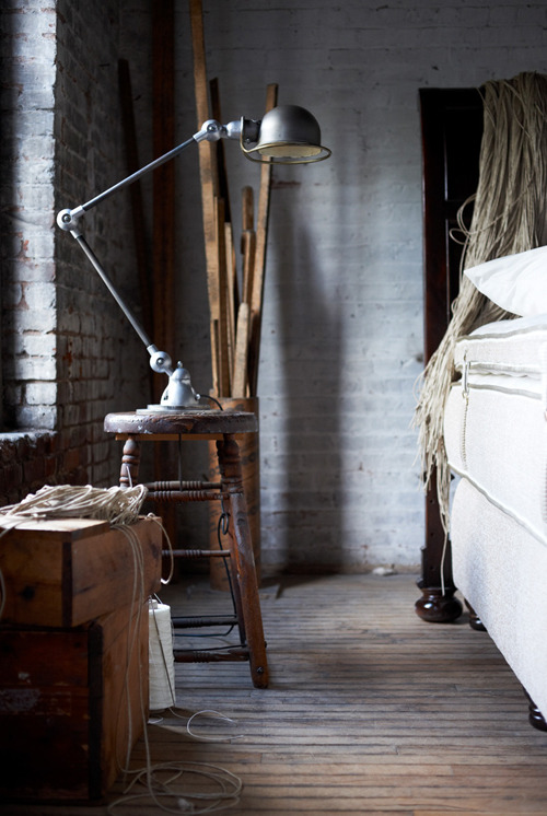 Best of the Bedside The Inside Source loves all things old and re-purposed. Take, for instance, this medical lamp. Mixed in with the warmth of a barn-style decor, what could be a cold and creepy instrument of the past is now perfectly suited for the new task at hand. eBay has an abundance of vintage medical lamps on offer, in a variety of heights, shapes, and sizes. When purchasing vintage lighting, always keep in mind that you might have to invest a small amount in rewiring. This is something you can easily do yourself or, if you rather, take to a professional to do, usually for around $30 depending on the size of the lamp and where you live. (Photo: Courtesy of lottagaton. Text by Jenny Bahn)