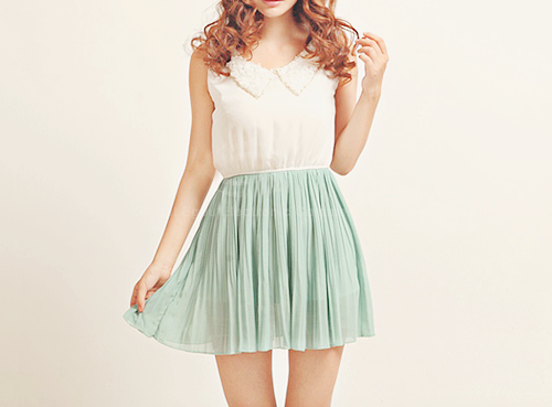 yummmiiee:  Chiffon Skirt Dress:  ✿