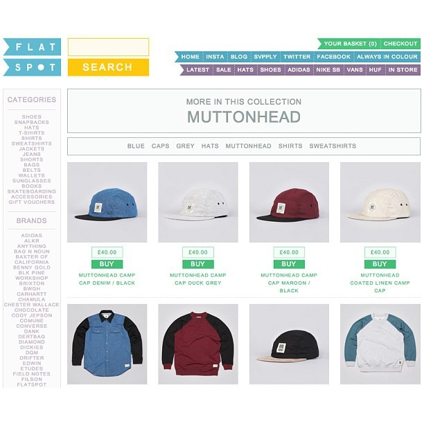 "Check out the Muttonhead ""GoodSport"" collection for Spring/Summer 2013 at Flatspot in Devon!"