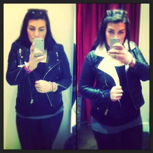 Still undecided… Opinions welcome. #hellppp #leatherjacket#shopping#advice#opinion#personalshopper#me#oasis#h&m#oneistwicetheprice! #monochrome