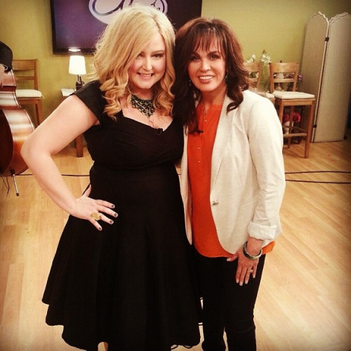 With the lovely Marie Osmond at yesterday's taping of her show…LOVE HER!
