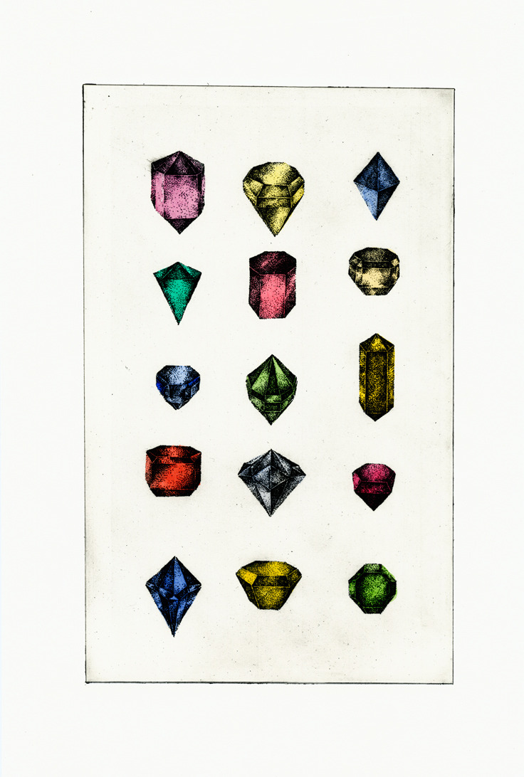 lovejewelry:  Beautiful Gemstone Illustration from Phillip J Jones