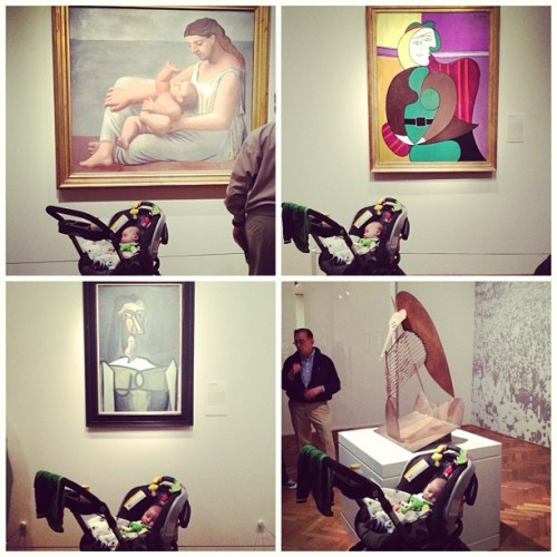 Conor learned a lot today while taking in the Picasso exhibit at the Art Institute of Chicago.