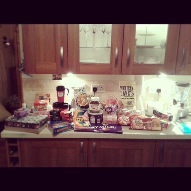 #sleepover#party#girls#food#chocolate