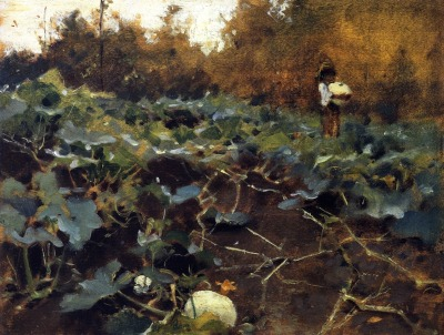 paintingbox:  John Singer Sargent (1856-1925). Pumpkins, c. 1878-1880. 25.4 x31.8 cm 10 x 12.52 in