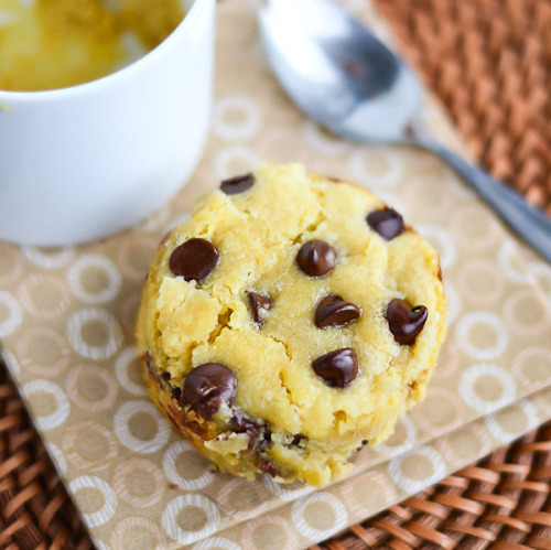 gluten-free chocolate chip mug cookie for one.