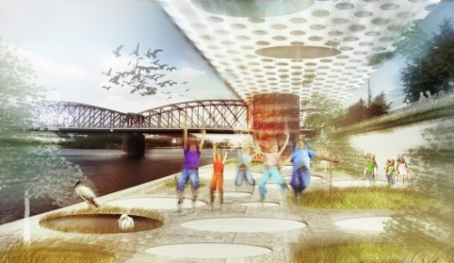 Urban Sponge. Have a look at another proposal for Prague riverfront from Gemawang Swaribathoro + Indra Nugraha + Morian Saspriatnadi. More on: http://bit.ly/XKgkpC