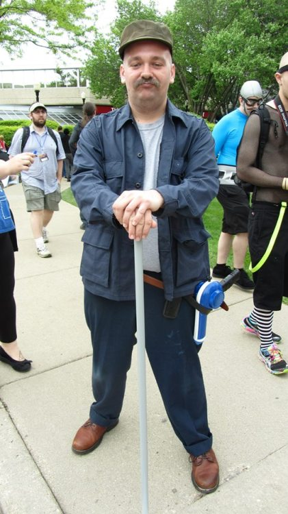 Looks like Scruffy from Futurama showed up at Acen ! (unknown / photo : Anthony Barnes / source : http://ow.ly/ldjjU  / Acen 2013)