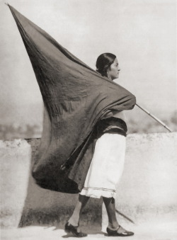 semioticapocalypse:  Tina Modotti. Woman with red flag, Mexico, 1928. [::SemAp::]