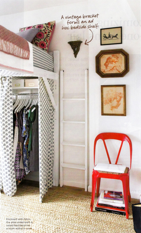 walk-in closet in a mini bedroom (via Arianna Belle Organized Interiors | The blog)