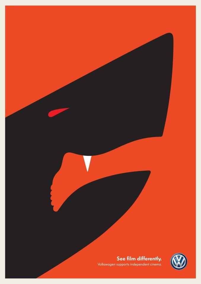 Shark Attack by Noma Bar