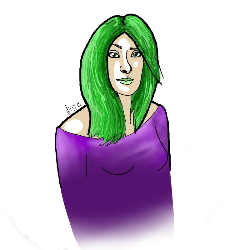 Quick doodle of Lorna Dane/Polaris, casual wear edition.