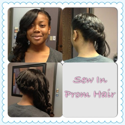 Natural Sew In Prom Edition wearing Brazilian Dramatic Wave straightened #promhair #natural #naturalsewin #sewin #houstontx #houstonhair #houstonsewins #brazilianhair #buydramatichair #flatsewins #highponytails #dramatichair #dramaticallusions #weaves #extensions
