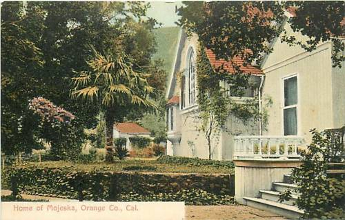 "Vintage postcard of the ""Home of Mojeska, Orange County, Cal."""