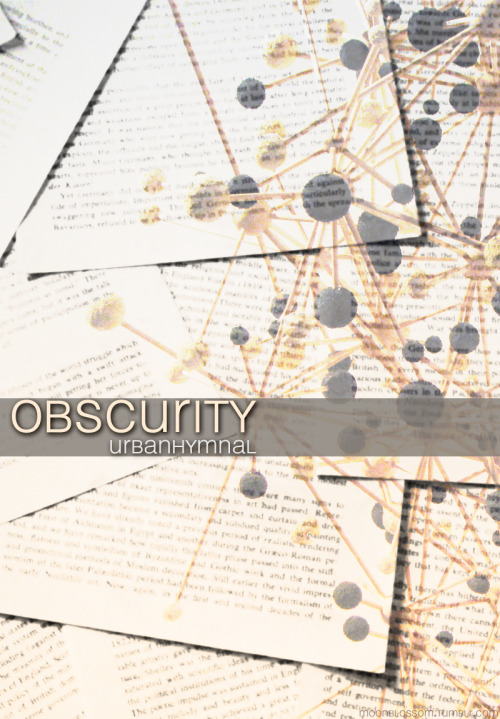 For Obscurity, by UrbanHymnal