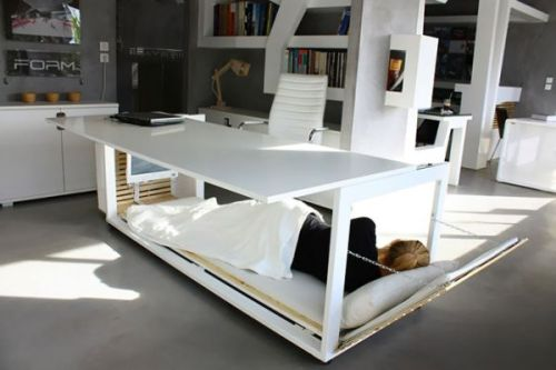 The convertible desk bed