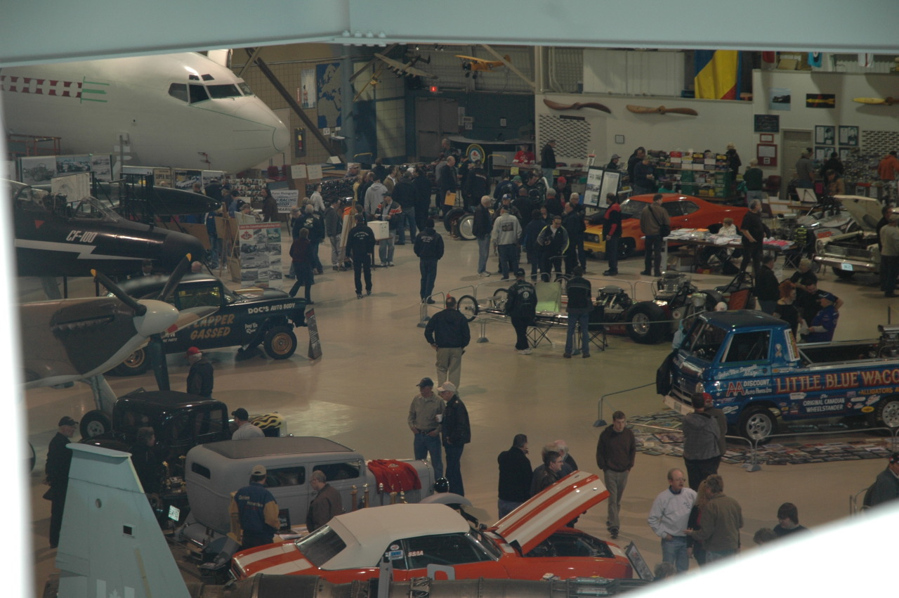 What a cool spot for a car show - a Hanger! Drag Strip Memories 2013