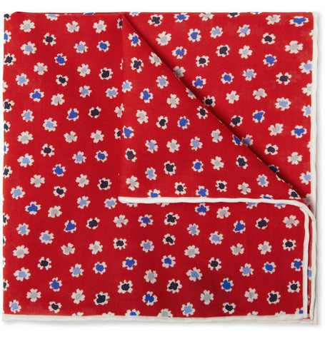 ink dot floral print pocket square by J. Crew