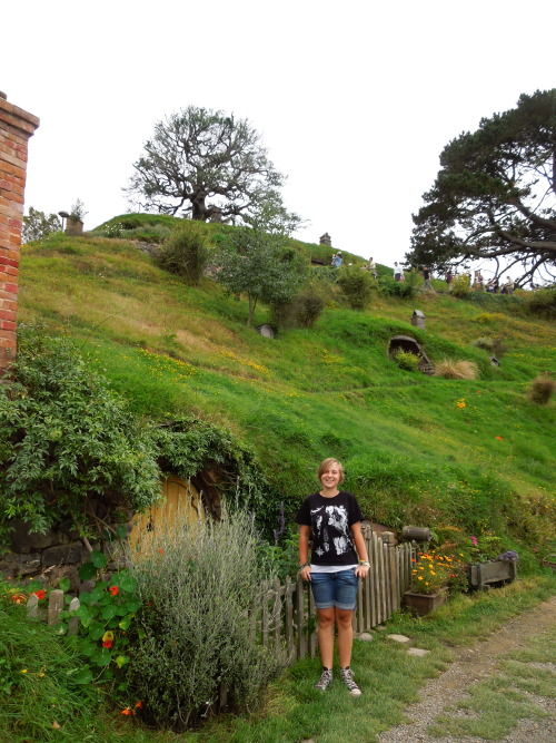 Photo of me at Hobbiton on my birthday :) Fantastic day!