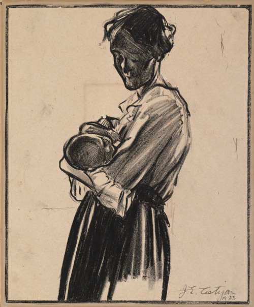 Happy Mother's Day to all moms and moms-to-be!  IMAGE: John E. Costigan (American, 1888–1972). Mother and Child, 1923. Crayon on paper, 10 5/8 x 8 3/4 inches (27 x 22.2 cm). Collection Albright-Knox Art Gallery. Gift of the ACG Trust, 1970.