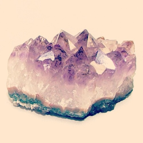 "#Gemstone of the week: Amethyst.  The name originates from a Greek word meaning ""without drunkenness"". May this stone instill a sober mind… And maybe cure a hangover!"