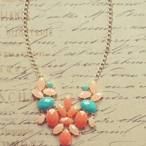 The new Coral Arrangements Necklace is pretty amazing! 💕 #adabelles #jewelry #necklace #spring #coral #pink #turquoise  (at adabelles.com)