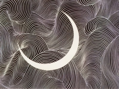 加山又造 月 1983Kayama Matazo moon