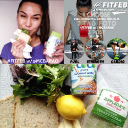 #Fuel #FitFeb w/Your Girl⚡ Simple turkey sammie w/heaps of greens🍃 12g of protein 👍 it's about how much my body can absorb per meal 😉 For more refuel ideas, peep the Ultimate Guide to Workout Nutrition on www.MCBARAO.com⚡