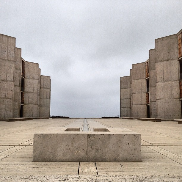 #salkinstitute designed by Louis Kahn. The most beautiful piece of design I've experienced.