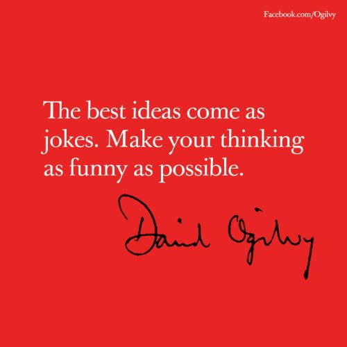Creative advice for today from legendary adman David Ogilvy to increase your productivity