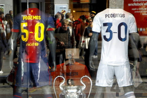 "Meanwhile somewhere on a store in Spain. ""We can"""