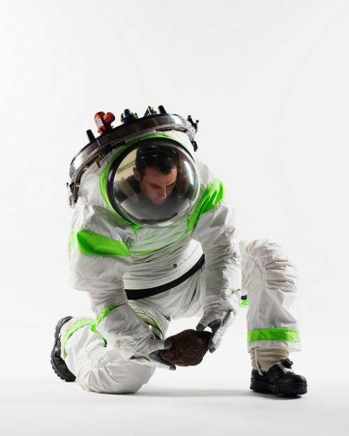 npr:   It might make the astronaut wearing it look like a real-life Buzz Lightyear, but a new prototype spacesuit that NASA just finished testing represents the first major overhaul in spacesuit technology since 1998.  (via New NASA Spacesuit Looks like Buzz Lightyear's | Z-1 Prototype Photos) Photo: NASA