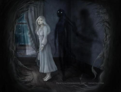 "Have you ever felt or seen a ""shadow people"" This is one of the illustrations featured in the illustrated music digibook THE UNDERLIVING (http://theunderliving.com/). Dormant in the corner of your eyes, always there always hidden to your sight. I have sleep paralysis and I have sometimes seen what it is called ""Shadow people"". I've heard of many having similar experiences… Have you ever had an encounter with the ""shadow"" ones? Not saying they are real, in fact most of sleep paralysis experiences and lucid dreaming experiences are explainable with scientific physiological terms but I would love to know about your experiences  and if any of you have sleep paralysis (which inspires quite a lot of my own music) feel free to share your experience"