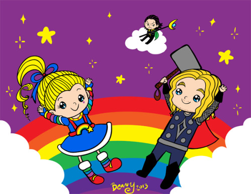 Rainbow party in space!!