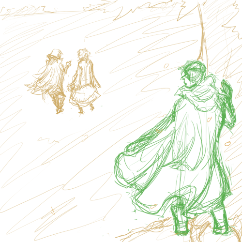 i'm considering doing a little comic centered on Gaius/Robin and i ended up doodling an idea from it i was going to lineart it but the lineart was turning out pretty cruddy so i kept it as a doodle eh he