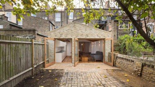 architecture houses wood extension interiors kitchen skylight london uk