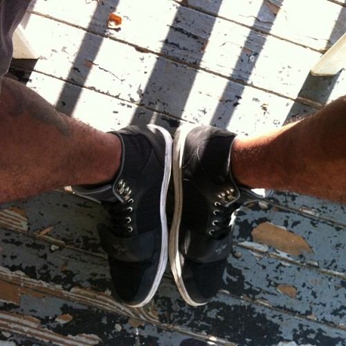 High tops + Shorts…For some reason I really like this combo