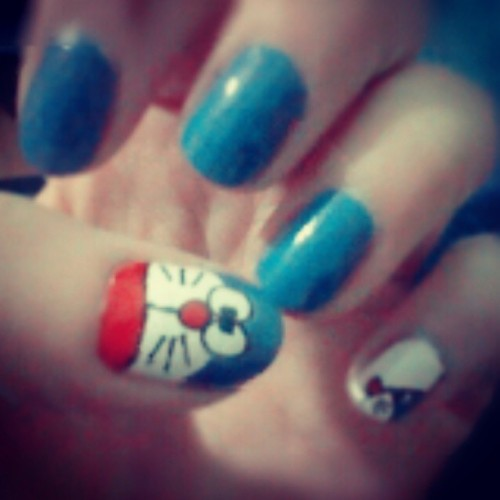 #me #girl #teen #nail #art #nailart #picoftheday #jj #igers #intasweet #igtags #instamood #love #doraemon #blue #nice #beauty #gorgeous #instanesia #photooftheday #webstagram #statisfram #photo #tweegram #photography #today #nice #tfl. #likeforlike #fashion #likeforfollow #followme