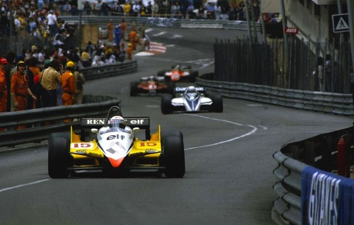 timewastingmachine:  Alain Prost | Renault RE30B | 1982 Monaco Grand Prix