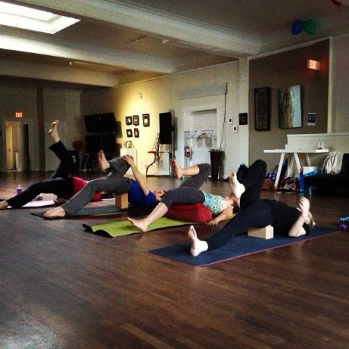 Who said #yin #yoga in #yyc  is boring? #noneoftheseguys! Great work.