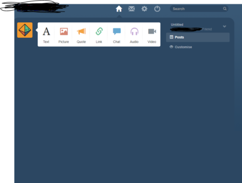 hey look I made a tumblr clone its not ready yet
