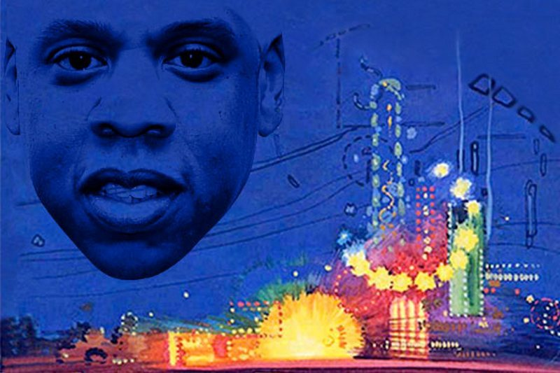 Quiz: Jay-Z Lyric or Line From The Great Gatsby? Jay-Z is writing part of the score to Baz Luhrmann's Great Gatsby, and what a perfect fit it is. Hova's lyrics and F. Scott Fitzgerald's classic have so much in common: Both describe struggle and dejection, gender roles and social ills, the glamour and trappings of wealth, and the allure of the American dream. Plus parties and cars and fashion! Take our quiz and see if can tell your West Eggs from your Hello, Brooklyns.
