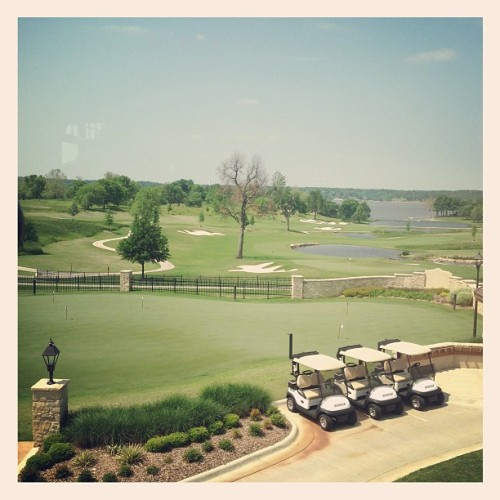 Beautiful view from the Buffalo Bar @shangrilaokgolf. Looking forward to another great summer at the Lake.